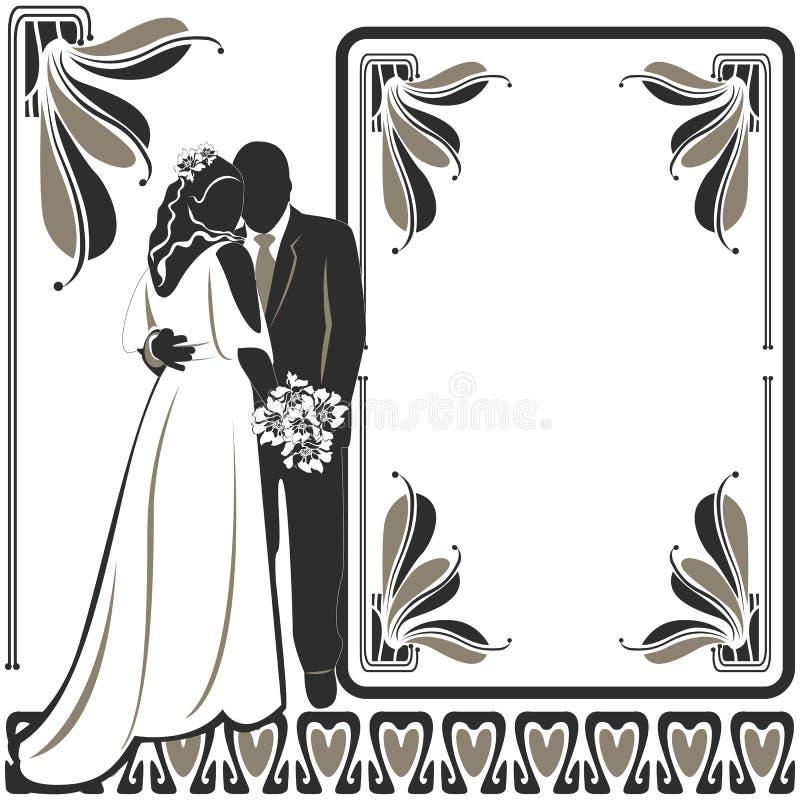 Invito con le paia di nozze immagine stock