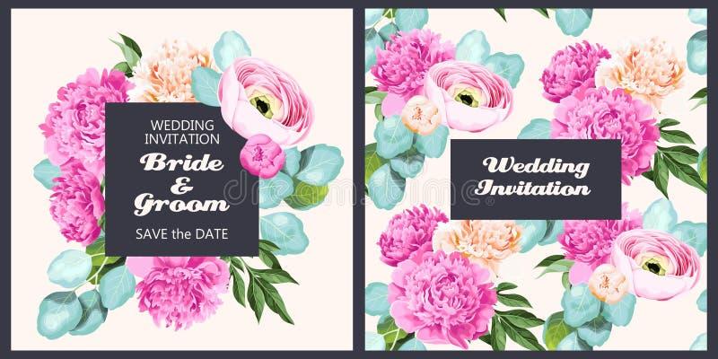 Download Invito d'annata di nozze illustrazione vettoriale. Illustrazione di pink - 117976165
