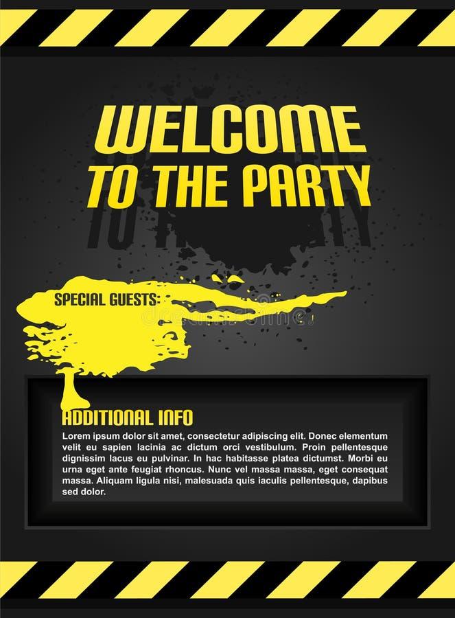 Invito del partito. illustrazione di stock