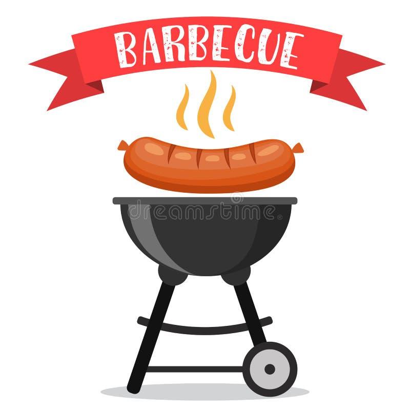 Invito del partito del barbecue o del Bbq illustrazione vettoriale