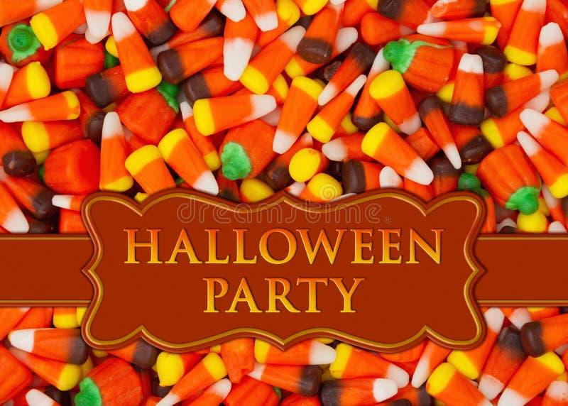 Invito del partito di Halloween con il cereale di caramella fotografie stock libere da diritti