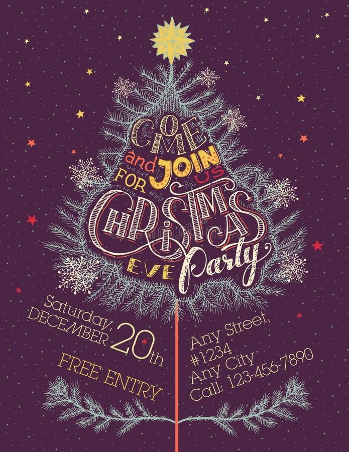 Invito del partito di notte di Natale illustrazione vettoriale