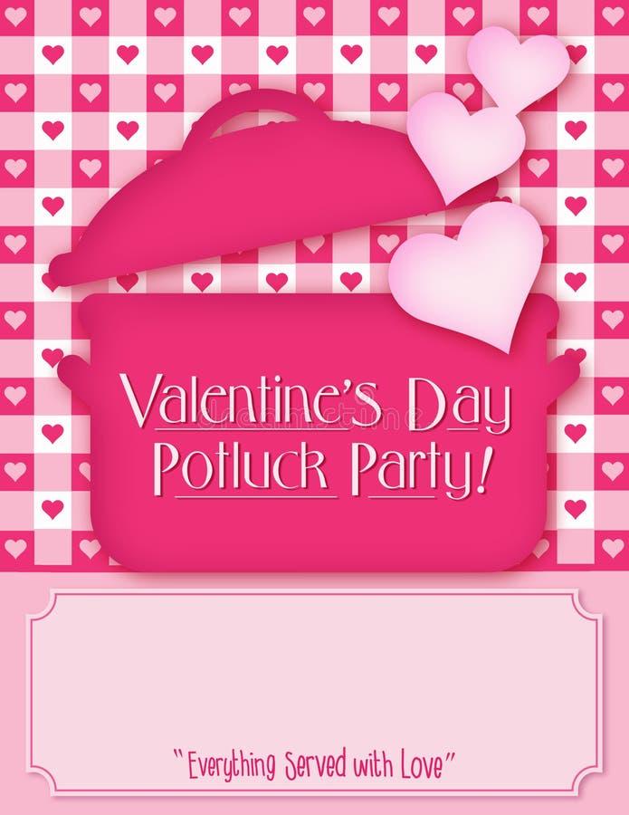 Invito del Potluck di San Valentino royalty illustrazione gratis