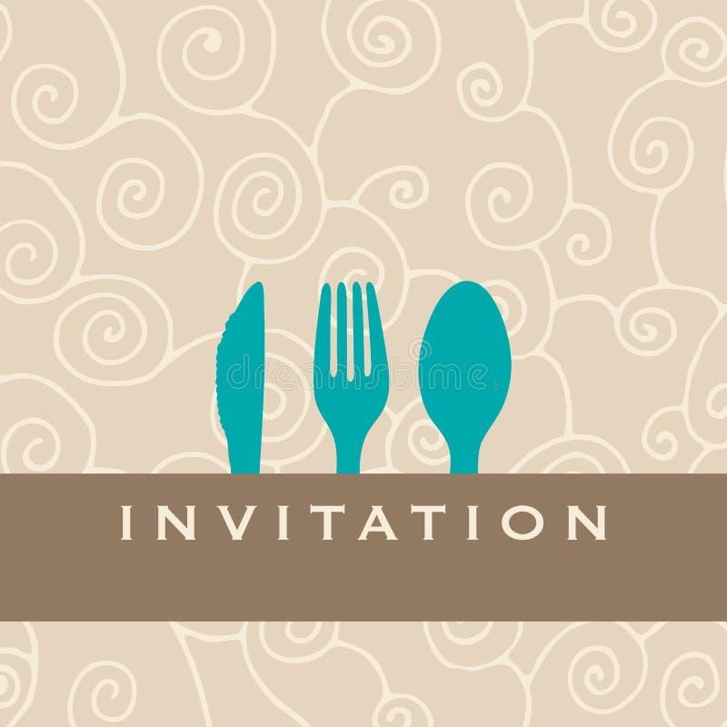 Invito del pranzo illustrazione di stock
