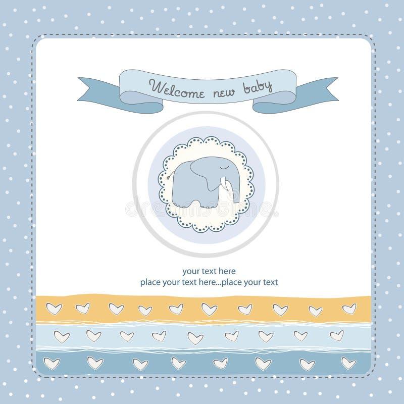 Invito dell'acquazzone del neonato illustrazione di stock