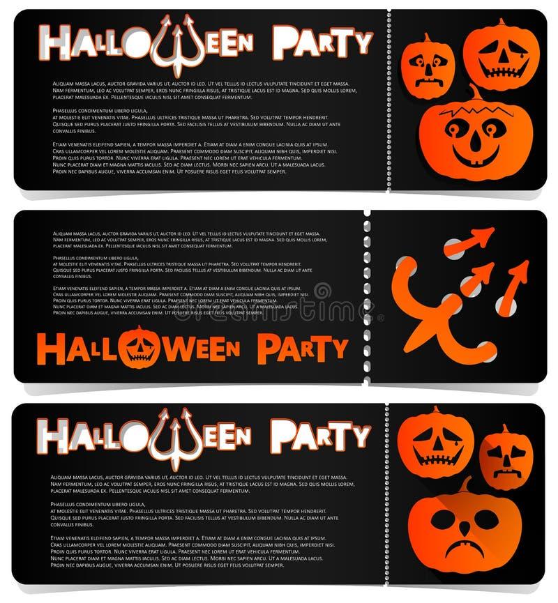 Invito dell'aletta di filatoio a celebrare Halloween Disposizione orizzontale Un partito in un club, in un caffè o in un festival illustrazione vettoriale