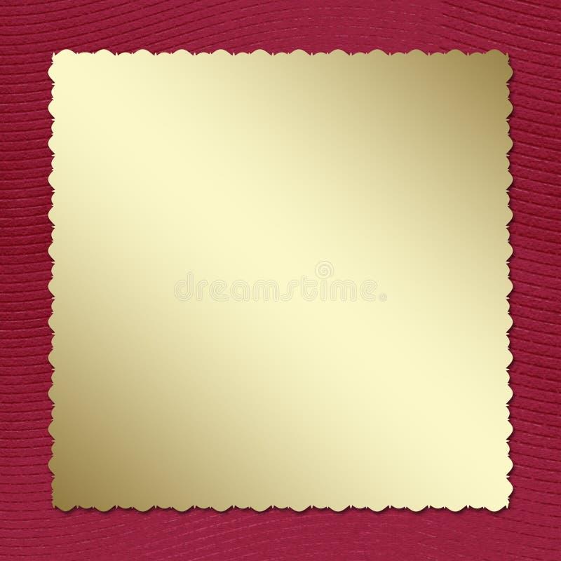 Invito della cartolina ai precedenti del claret illustrazione vettoriale