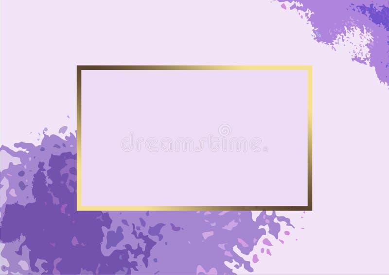 Invito della cartolina alle nozze royalty illustrazione gratis