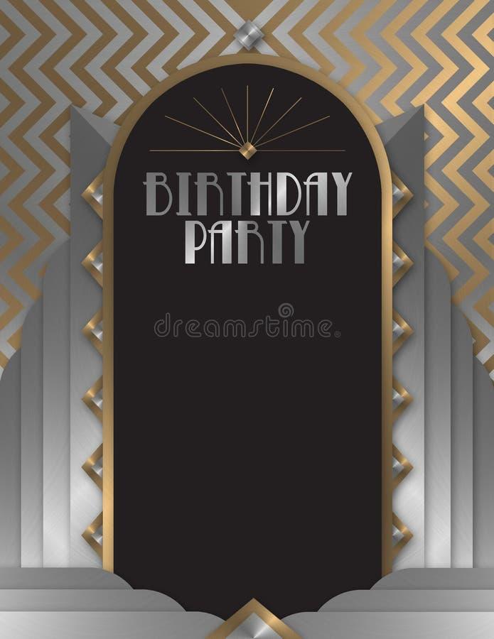 Invito della festa di compleanno illustrazione vettoriale