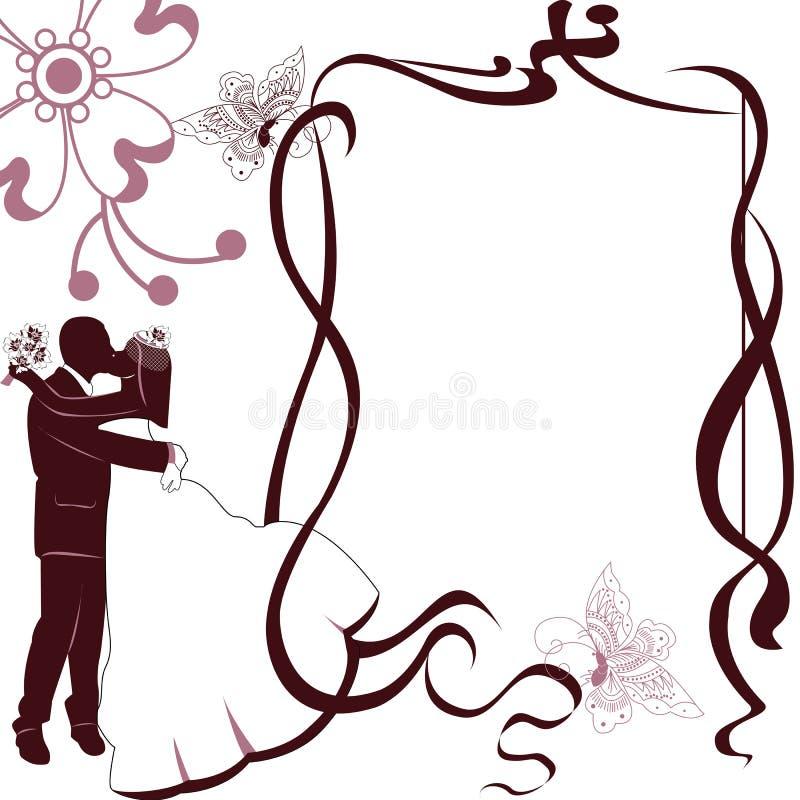 Invito della partecipazione di nozze fotografie stock libere da diritti