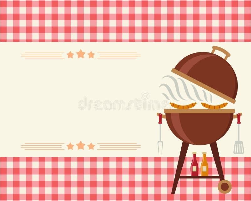 Invito dello spazio in bianco del partito del barbecue illustrazione vettoriale