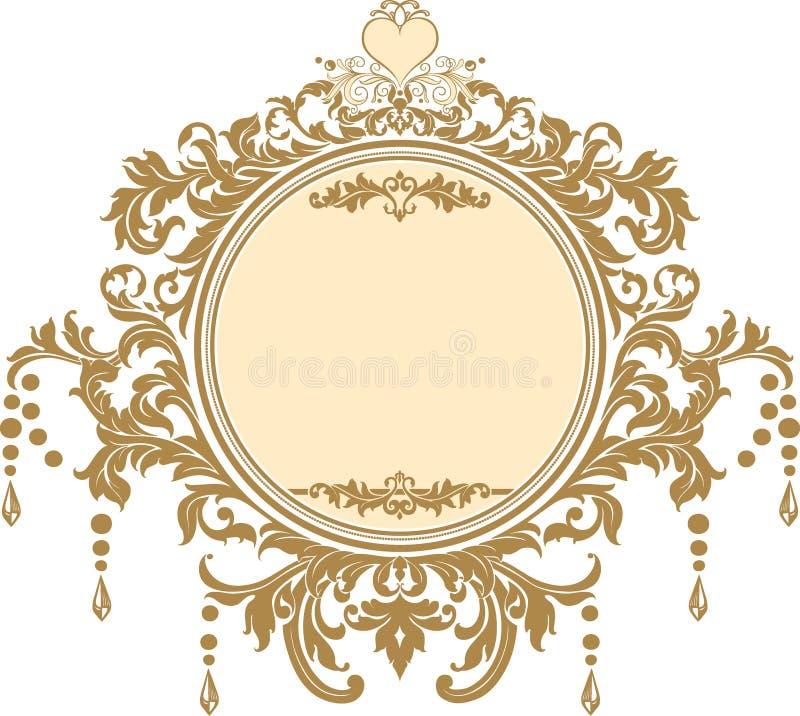 Invito di cerimonia nuziale immagine stock