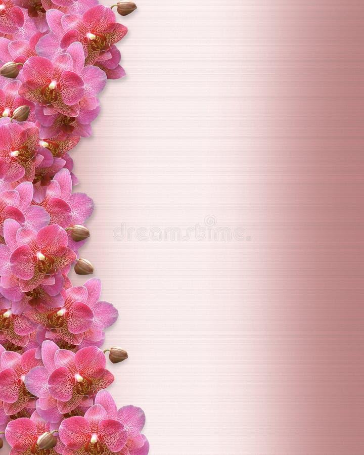 Invito di cerimonia nuziale del bordo delle orchidee illustrazione vettoriale