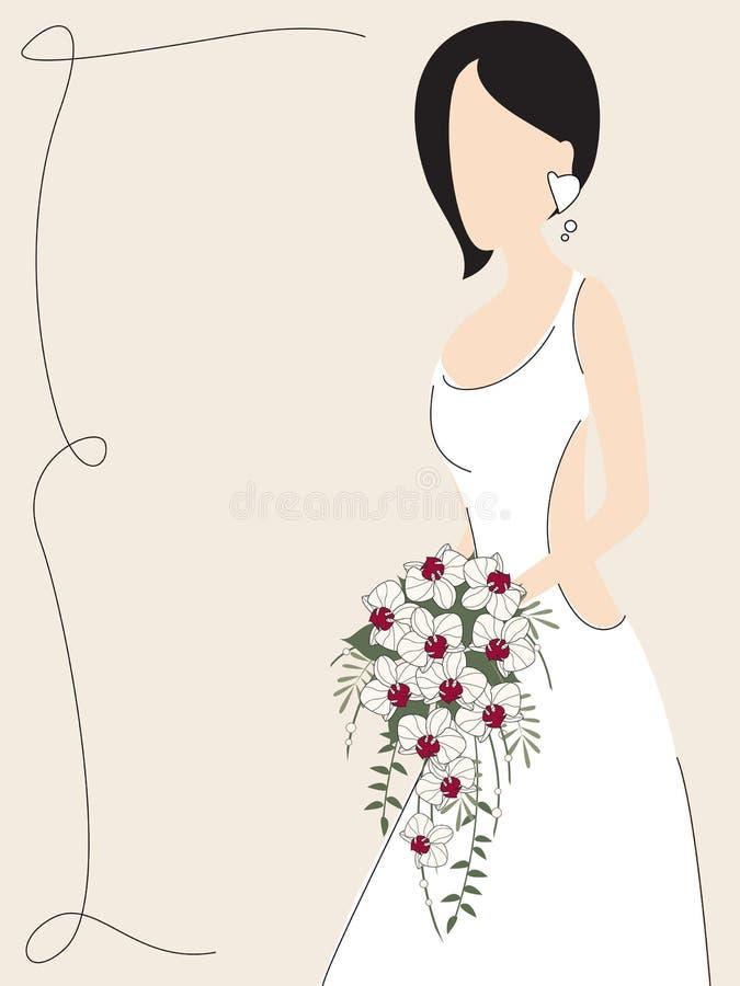 Invito di cerimonia nuziale dell'annata illustrazione di stock