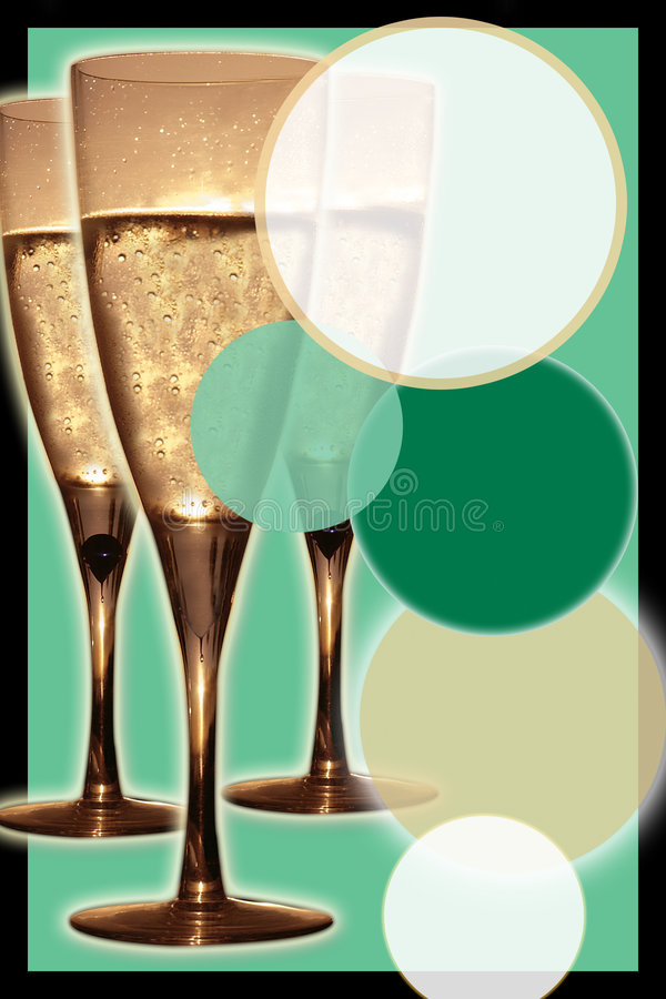 Invito di Champagne immagini stock