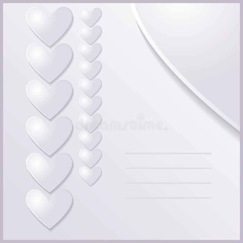 Invito di nozze illustrazione vettoriale
