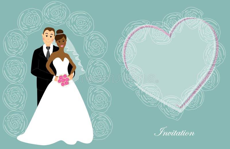 Invito 7 di nozze illustrazione di stock