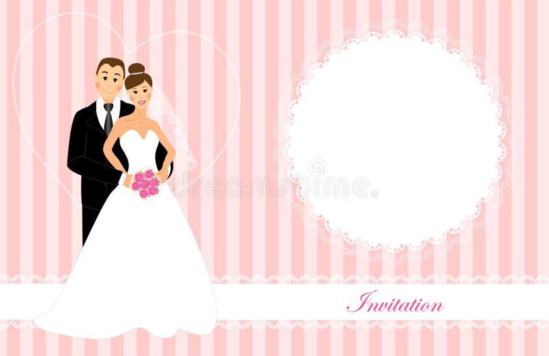 Invito 3 di nozze illustrazione di stock