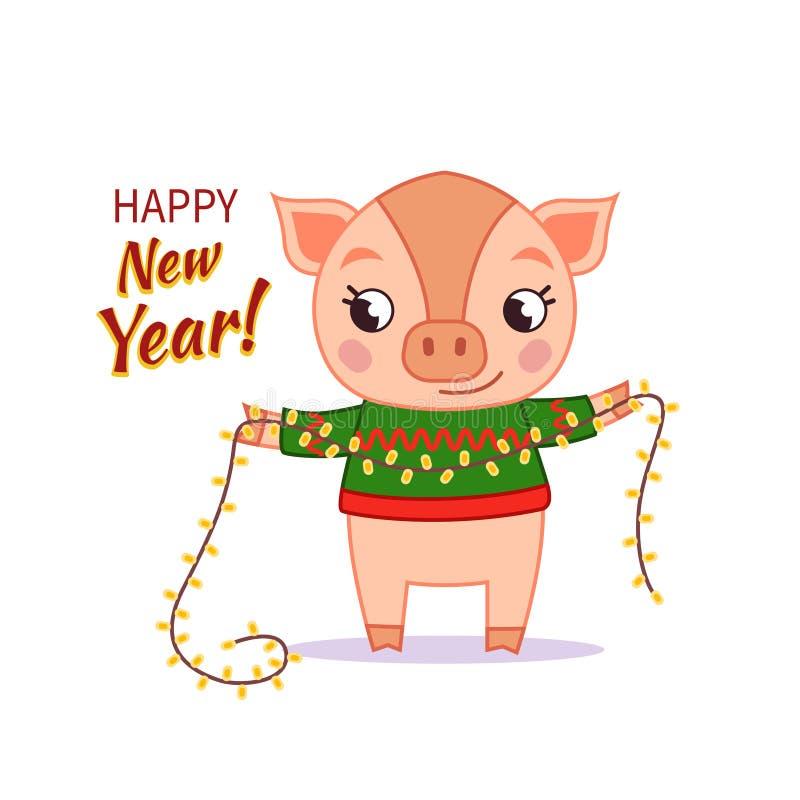 Invito di nuovo anno royalty illustrazione gratis