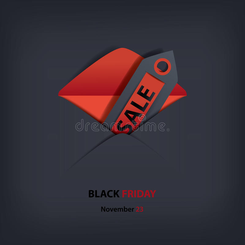 Invito di vendite di Black Friday illustrazione di stock