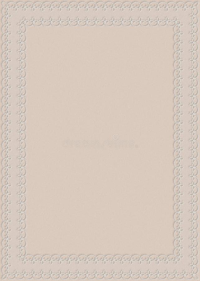 Invito elegante di cerimonia nuziale illustrazione di stock
