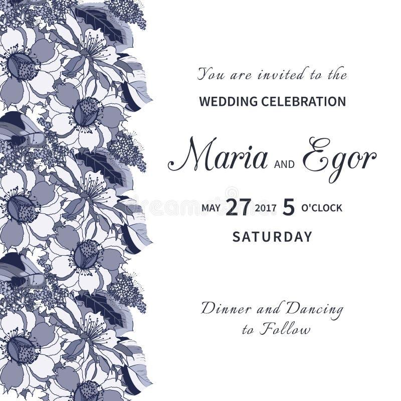 Invito floreale di nozze royalty illustrazione gratis