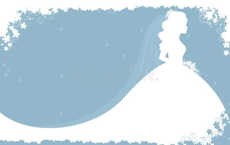 Invito nuziale dell'acquazzone royalty illustrazione gratis