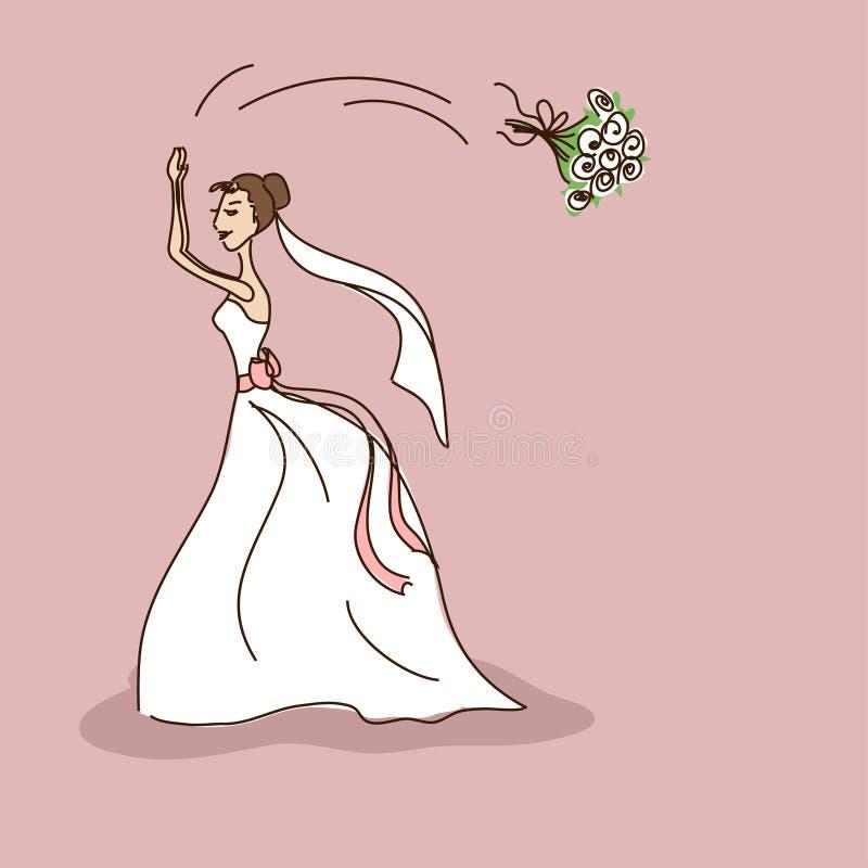 Invito nuziale di nozze o della doccia illustrazione di stock