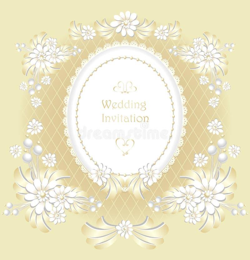 Carta Elegante Dell Invito Di Nozze Con L Oro Del Mazzo Dei
