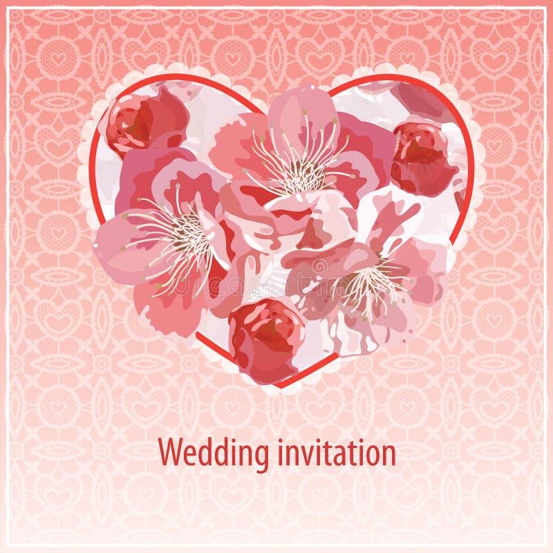Invito per la cerimonia nuziale illustrazione di stock