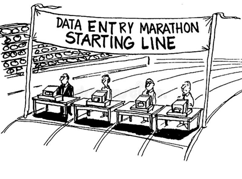 Invoer van gegevens Marathon royalty-vrije illustratie