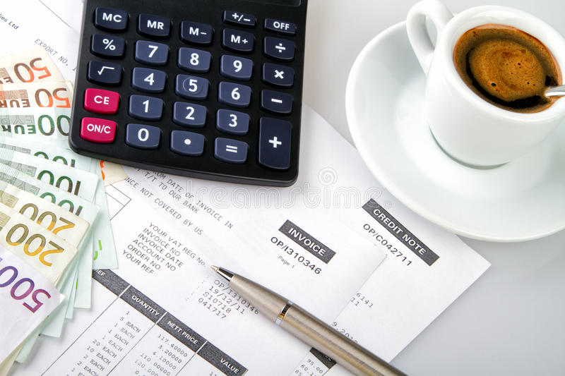 Download Invoice and credit note stock image. Image of aroma, money - 27664827