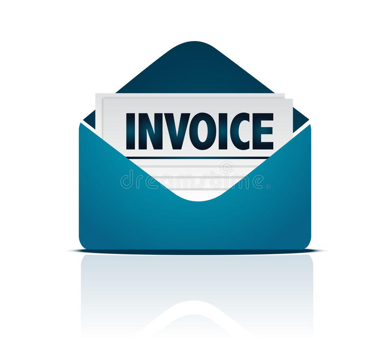 Download Invoice with envelope stock vector. Image of icon, receivable - 17918176