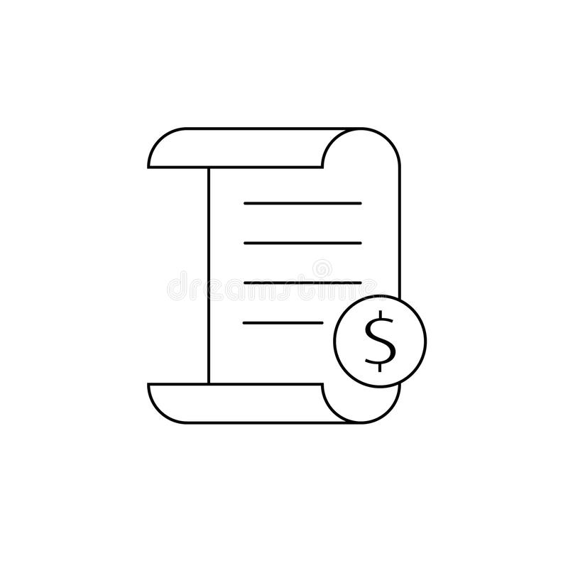 invoice line icon payment and bill invoice order symbol concept