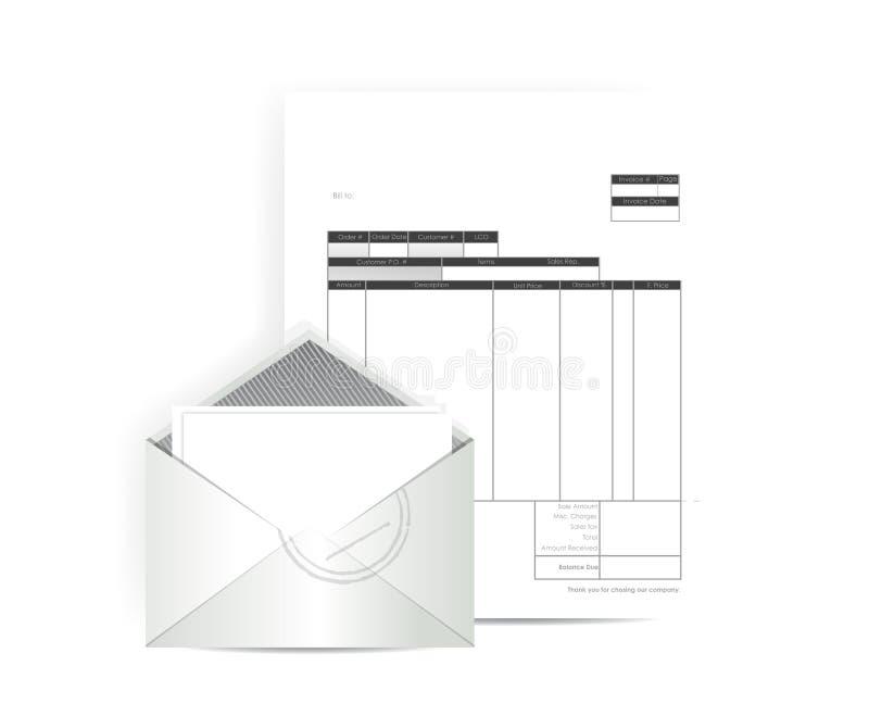 Invoice receipt mail illustration design. Over a white background vector illustration