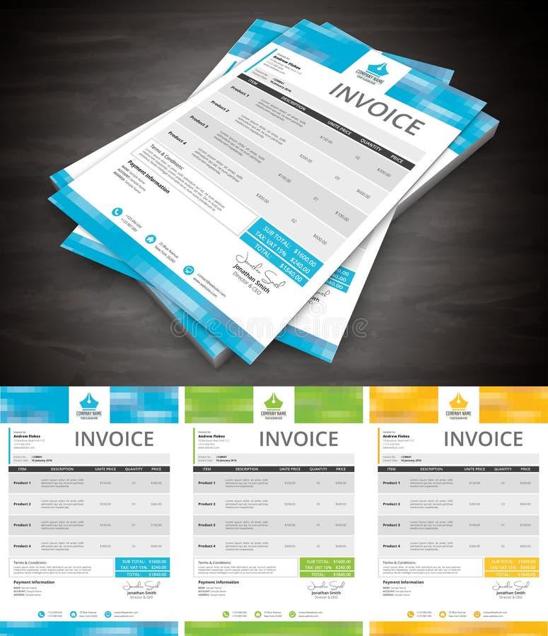 Invoice royalty free illustration