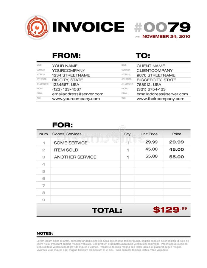 bookkeeping invoice template