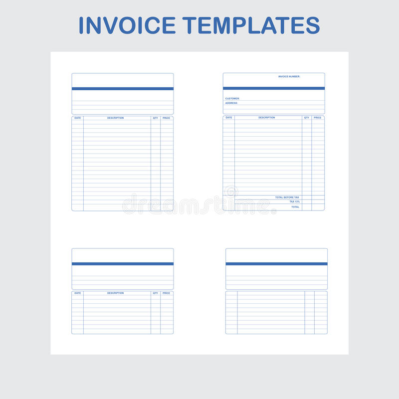 Invoice Templates Stock Vector Illustration Of Invoice 23001519