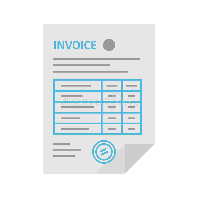 Invoice vector icon in the flat style royalty free illustration