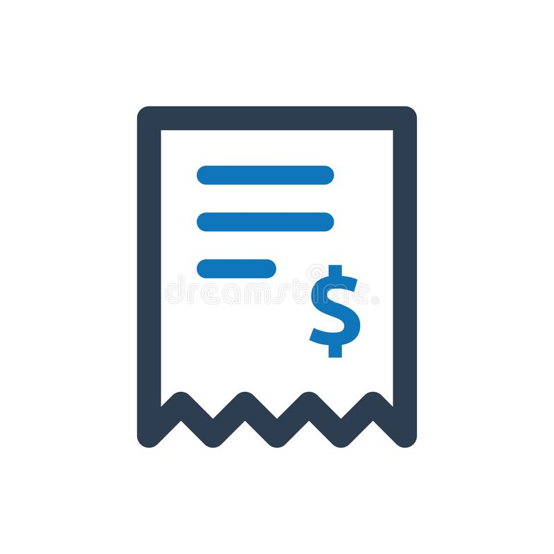 Invoice vector icon royalty free illustration
