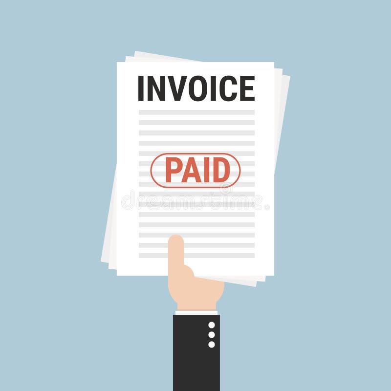 Invoice, vector illustion flat design style. royalty free illustration