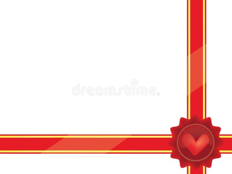 Involucro per il regalo di giorno del biglietto di S. Valentino royalty illustrazione gratis