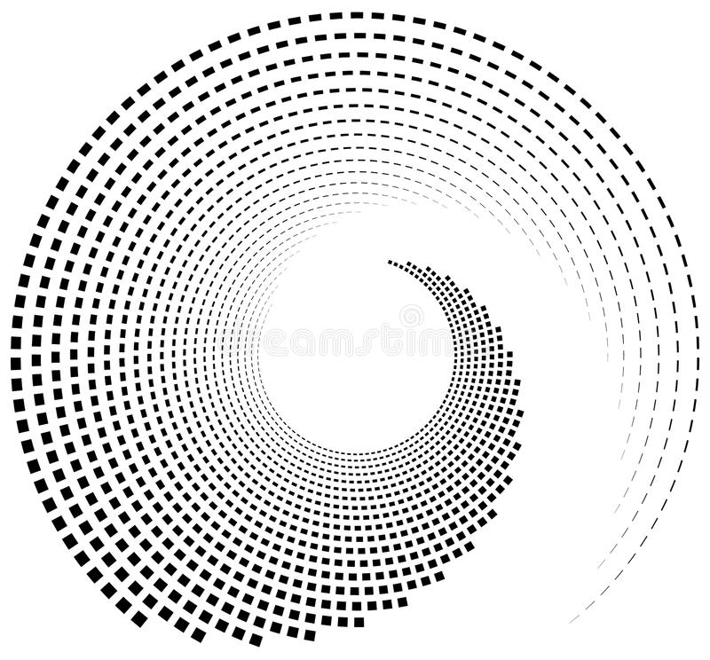 Inward spiral of rectangles. abstract geometric design element. royalty free illustration