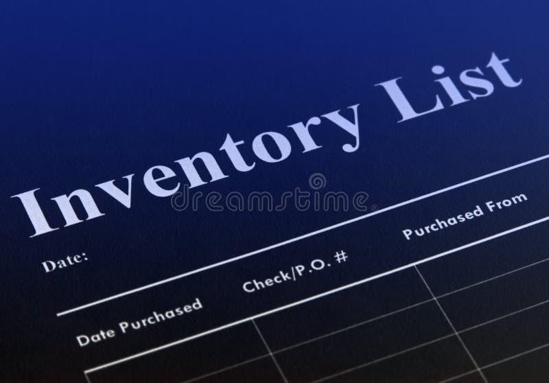 inwentaryzacja zdjęcia stock