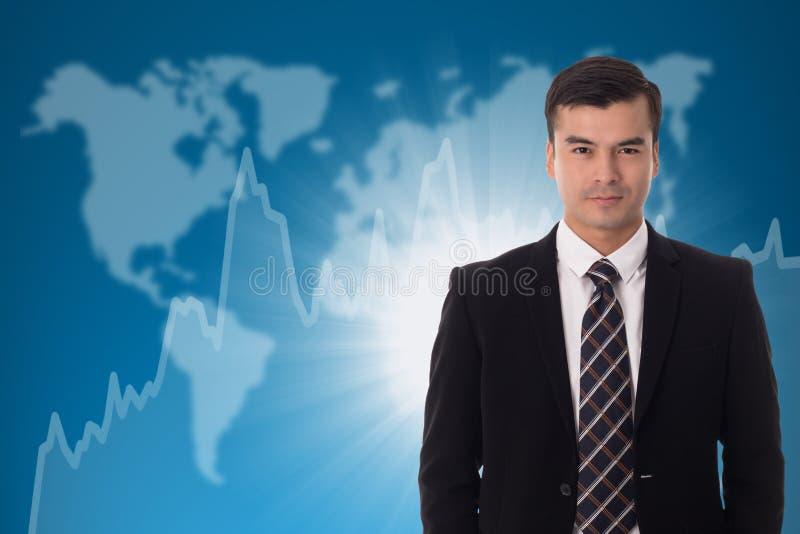 Inwestora biznesmena stojak fotografia stock