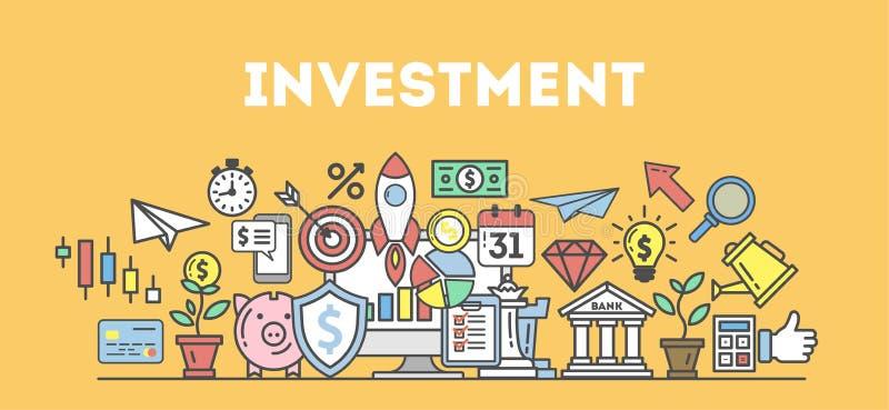 Inwestorska pojęcie ilustracja ilustracji