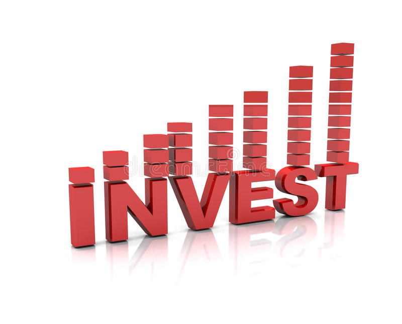 Inwestorski tekst ilustracja wektor