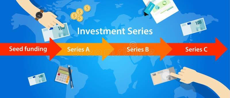 Inwestorskich serii round nasieniodajny finansowanie b C uruchomienie royalty ilustracja
