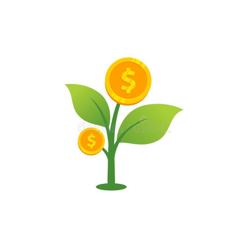 inwestorskiego pieniądze ikony wektorowa ilustracja rynek papierów wartościowych projekta ssymbol wektorowa ilustracja ilustracji