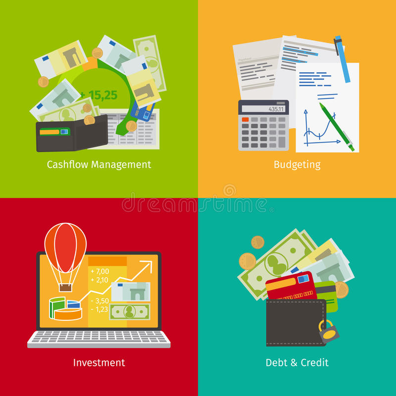 Inwestować i Osobisty finanse ilustracji